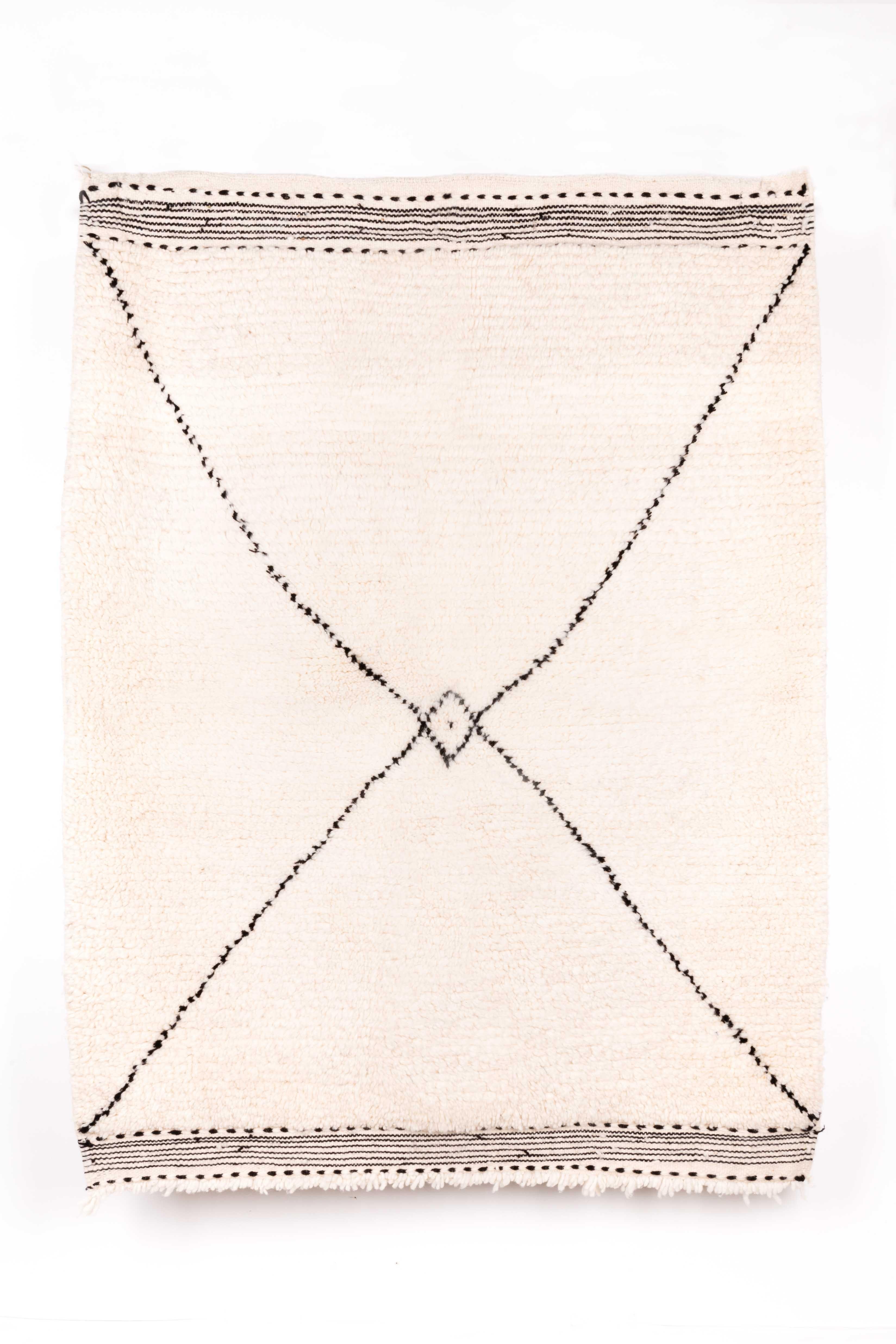 TAPIS BERBERE BENI OUARAIN 140 x 110 cm