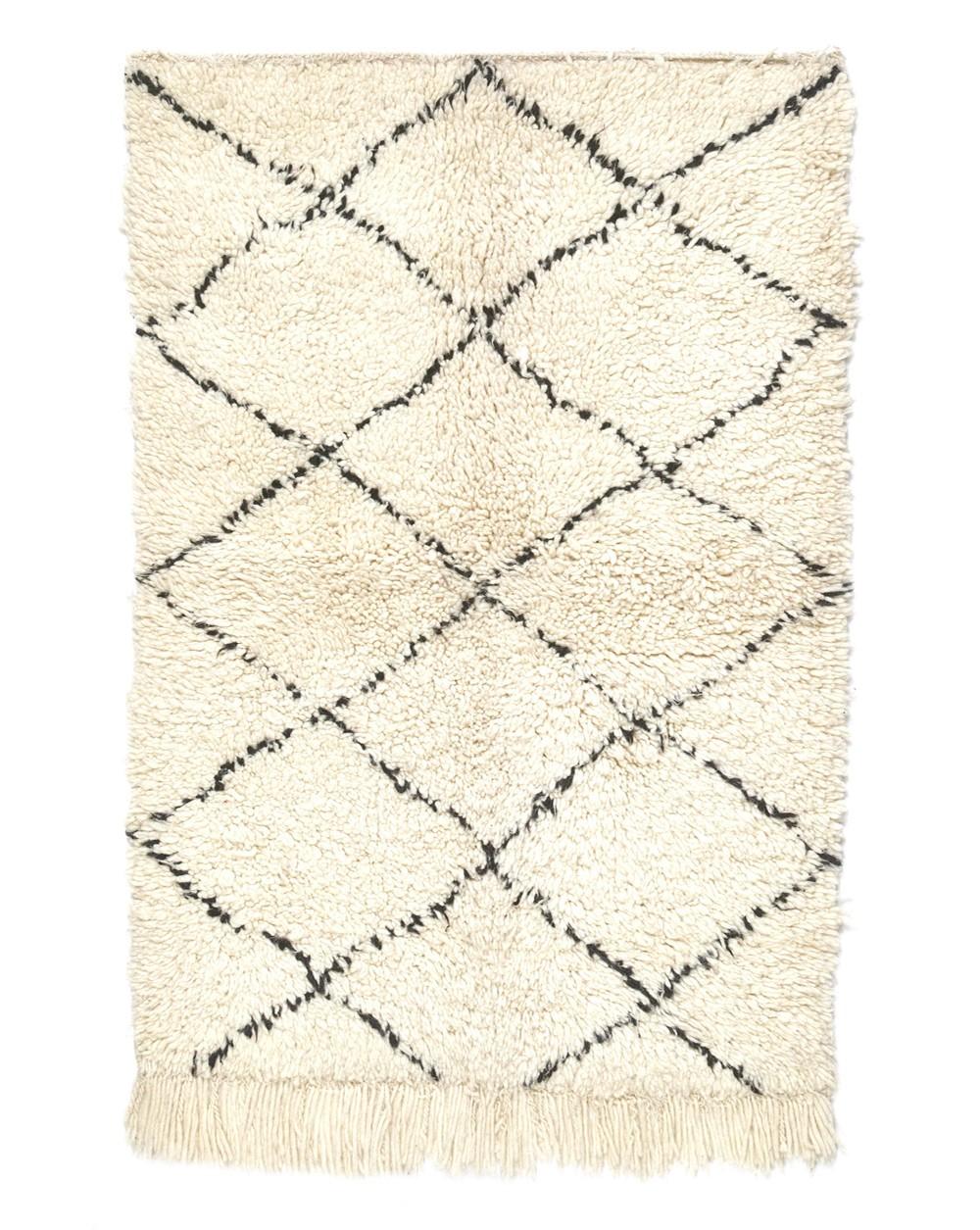tapis berbere beni ouarain 124 x 80 cm