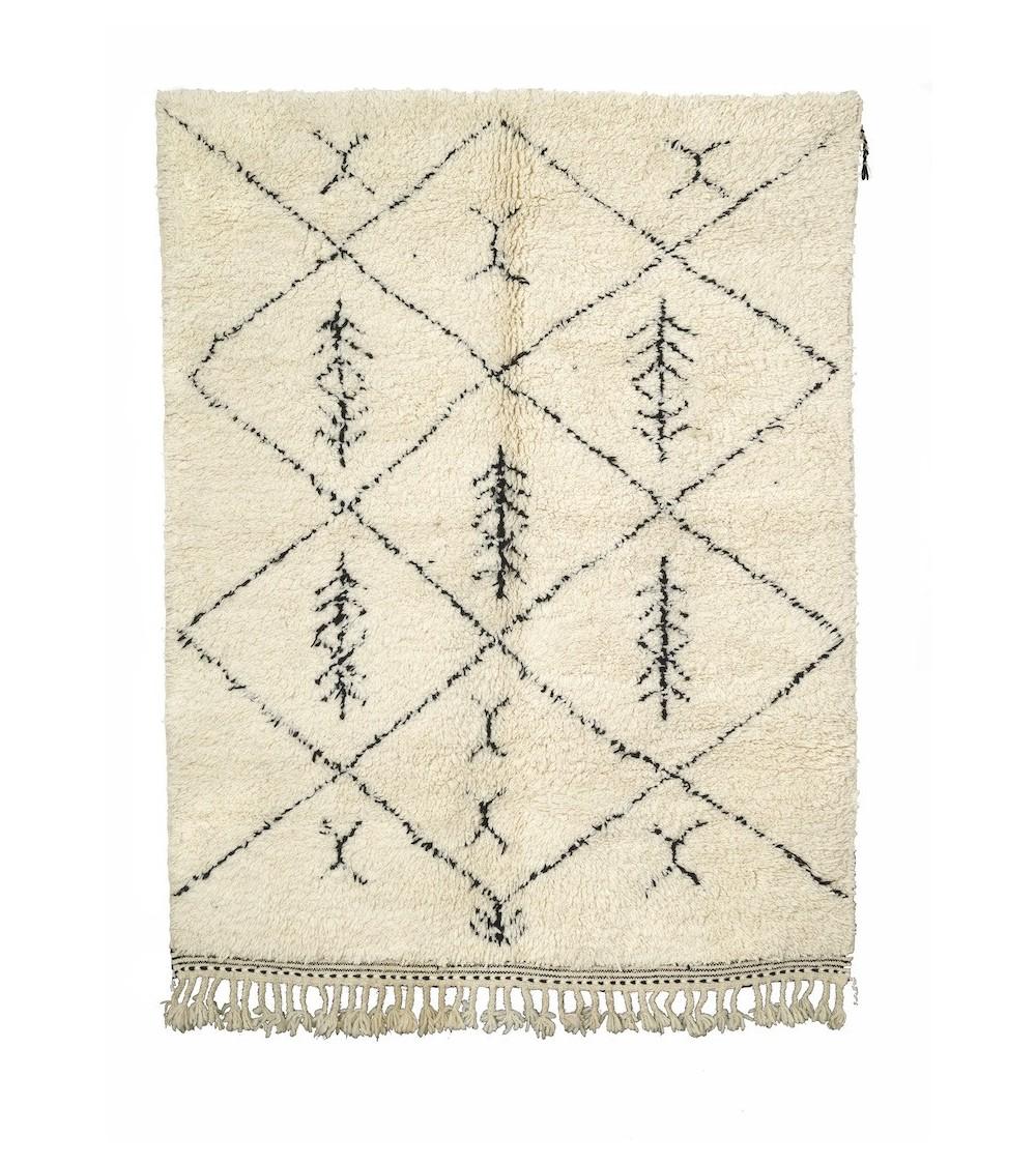 tapis berbere beni ouarain 210 x 157 cm. Black Bedroom Furniture Sets. Home Design Ideas